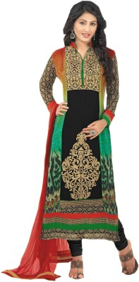 Vandv Shop Georgette Self Design Salwar Suit Dupatta Material