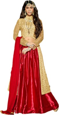 Guzelworld Net, Cotton Embroidered Lehenga Kurta & Waistcoat Material
