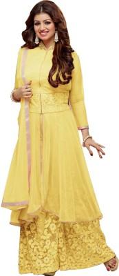 Vistara Lifestyle Georgette Embroidered Semi-stitched Salwar Suit Dupatta Material