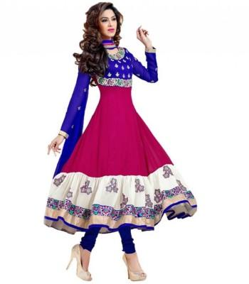 SMARTLOOK Georgette Embroidered Salwar Suit Dupatta Material