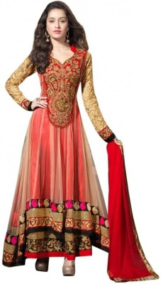 Godavari Fashion Hub Georgette Embroidered Semi-stitched Salwar Suit Dupatta Material