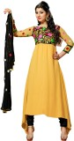 Florence Synthetic Georgette Solid Salwa...