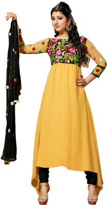Florence Synthetic Georgette Solid Salwar Suit Dupatta Material