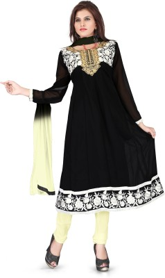 Vardhman Synthetics Georgette Embroidered Dress/Top Material