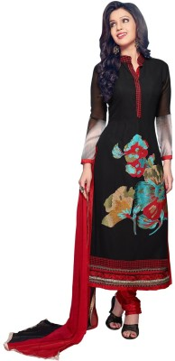 11heaven Georgette Embroidered Semi-stitched Salwar Suit Dupatta Material
