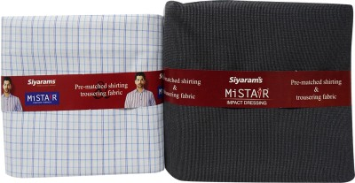 Siyarams Cotton Polyester Blend Checkered Shirt & Trouser Fabric