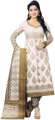 Fabfirki Synthetic Printed Salwar Suit Dupatta Material