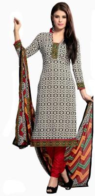 Khushali Cotton Self Design, Printed Salwar Suit Dupatta Material