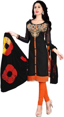 Eleven Creation Cotton Embroidered Salwar Suit Dupatta Material