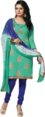 Navaneethas Chanderi Embroidered Salwar Suit Dupatta Material