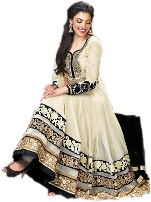 Aashiana Georgette Embroidered Semi-stitched Salwar Suit Dupatta Material