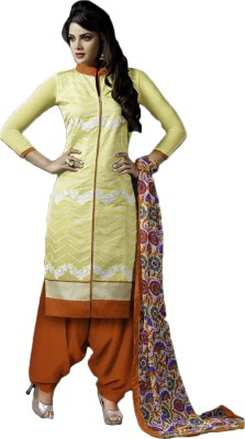 Typify Chanderi Embroidered Salwar Suit Dupatta Material