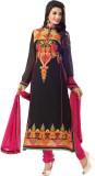 IndiWeaves Georgette Self Design Salwar ...