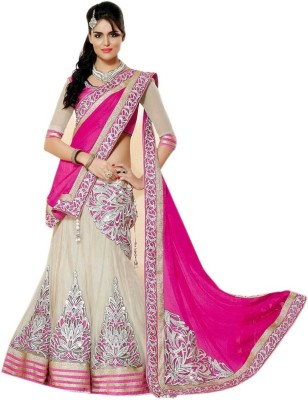 Fashioncreed Georgette, Net Embroidered Lehenga Choli Material