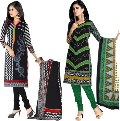 BANYAD Cotton Printed Salwar Suit Dupatta Material