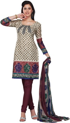 Fabdeal Net Geometric Print Salwar Suit Dupatta Material