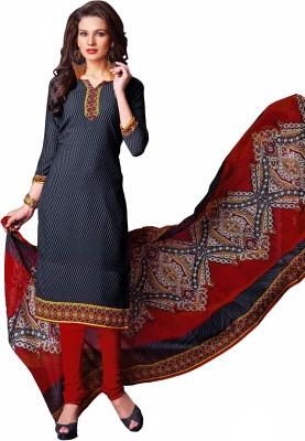 Manthan Crepe Printed Salwar Suit Dupatta Material