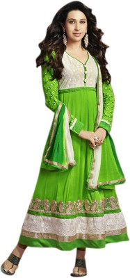 Vastrani Georgette Self Design Semi-stitched Salwar Suit Dupatta Material
