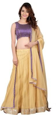 The Four Hundred Silk Self Design Lehenga Choli Material