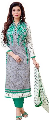 ARAADHYA CREATIONS Cotton Embroidered Salwar Suit Material(Un-stitched)