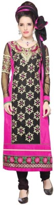 Kali Fashion Georgette Embroidered Semi-stitched Salwar Suit Dupatta Material