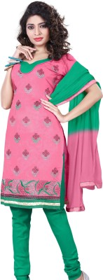 Reveka Fashion Chanderi Self Design Dress/Top Material