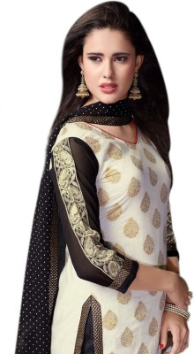 Vibranz Fasion Cotton Self Design Salwar Suit Dupatta Material