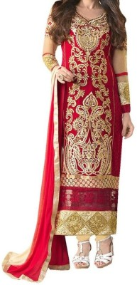 Kaypm Georgette Embroidered Salwar Suit Dupatta Material