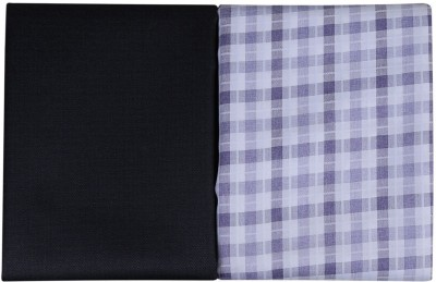 Cladien Cotton Polyester Blend Checkered Shirt & Trouser Fabric