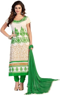 Desi Look Chanderi Self Design Semi-stitched Salwar Suit Dupatta Material
