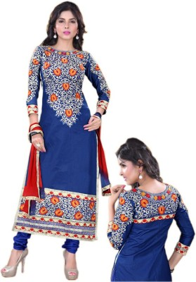 Shayona Georgette Embroidered Semi-stitched Salwar Suit Dupatta Material