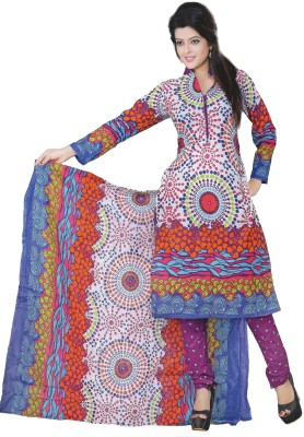 Sweet Girl Cotton Printed Semi-stitched Salwar Suit Dupatta Material