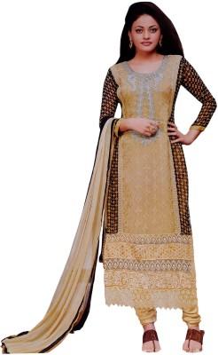 Vamakshi Chiffon Printed Semi-stitched Salwar Suit Dupatta Material