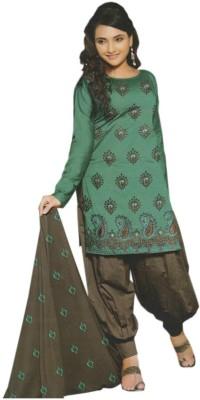 GLOBLOOM Cotton Embroidered Salwar Suit Dupatta Material