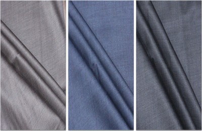 Fashion Foreplus Cotton Polyester Blend Solid Trouser Fabric
