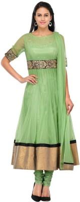 Shreeji Fashion Net Embroidered Semi-stitched Salwar Suit Dupatta Material