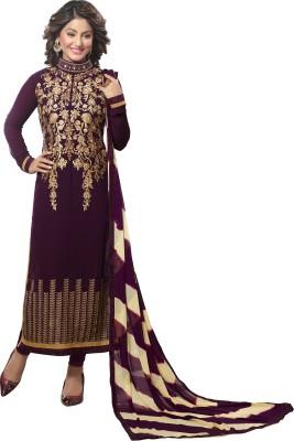 Khoobee Georgette Self Design, Embroidered, Embellished Salwar Suit Dupatta Material