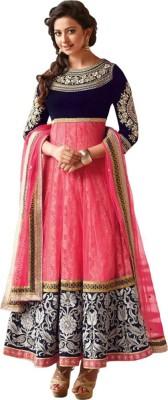 MDC Georgette Self Design Semi-stitched Salwar Suit Dupatta Material