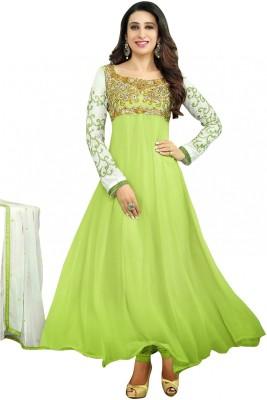 Nyalkaran Georgette Self Design Semi-stitched Salwar Suit Dupatta Material
