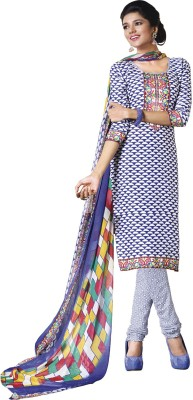 Miss Charming Crepe Self Design Salwar Suit Dupatta Material