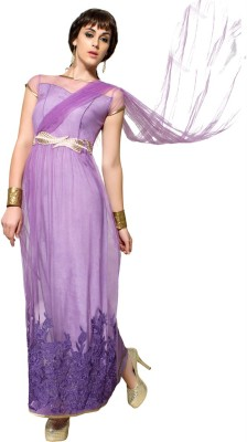 Viva N Diva Net Embroidered Salwar Suit Dupatta Material