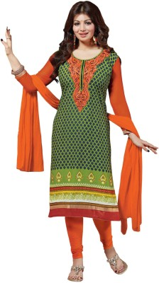The Fashion World Cotton Embroidered Salwar Suit Dupatta Material