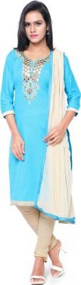 Saara Chanderi Embroidered Salwar Suit Dupatta Material(Un-stitched) at flipkart