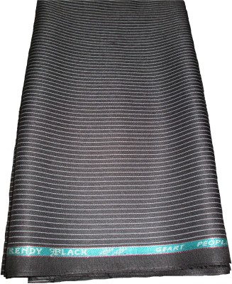 Amin Cotton Polyester Blend Striped Trouser Fabric(Un-stitched)