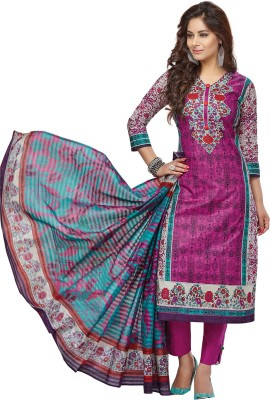 SuitsOn Cotton Linen Blend Printed Salwar Suit Dupatta Material