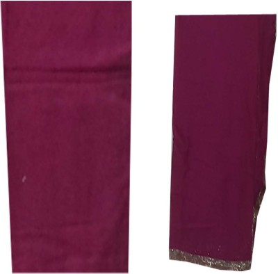 FS Cotton Embroidered Semi-stitched Salwar Suit Dupatta Material