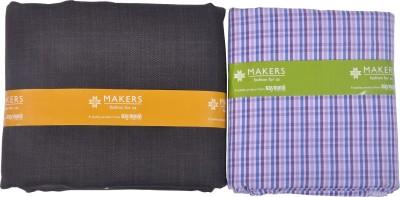 Raymond Home Cotton Polyester Blend Checkered Shirt & Trouser Fabric