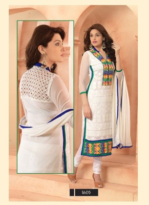 hari Chiffon Embroidered Salwar Suit Dupatta Material