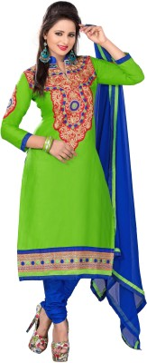 Khushali Cotton Self Design, Embroidered Dress/Top Material