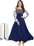 Happneyfab Georgette Embroidered Salwar ...
